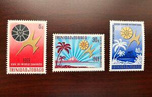 Trinidad & Tobago 1969 Scott #173-175 World Congress of Junior Chamber Mint NH