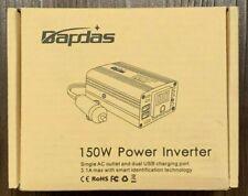 New listing Bapdas 150W Car Power Inverter Dc 12V to 110V Ac Car Converter with 3.1A Dual