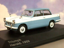 SUPERB WHITEBOX DIECAST 1/43 1959 TRIUMPH HERALD PALE BLUE & WHITE 1000 ONLY!