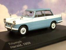 Triumph Herald anno di costruzione 1959 Blu Chiaro/bianco 1 43 Whitebox