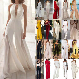 Womens Summer Jumpsuit Cocktail Evening Party Wedding Playsuit Romper Trousers