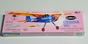 Guillow's Cessna 180 Build By Number Flying Model Kit 601 Junior Contest NEW
