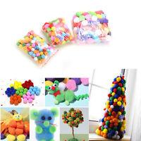 100 Stücke Weiches flauschiges Bommelhandwerk für Kinder, gemischte Farben