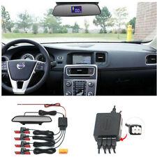 Parking 4 Sensors Car Reverse Backup Rear Buzzer Radar System Kits Sound Alarm