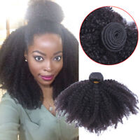 Mongolian Virgin Curly Wefts 100% Afro Kinky Curly Human Hair Extensions Weaves