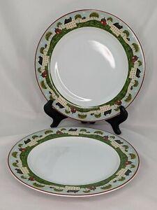 "Brandon House Country Life Sakura Warren Kimble1998 Set of 2 Dinner Plates 11"""