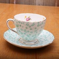 Foley Bone China Blue Flower Cup and Saucer Tea Made In England