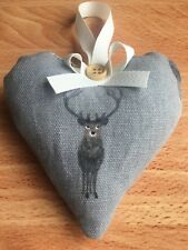 Sophie Allport Stag Fabric Handmade Heart