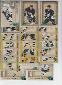 05/06 Parkhurst Pittsburgh Penguins 22 cards w/RCs and Inserts  Crosby Lemieux +