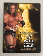Vintage WWF No Way Out 2000 PPV Cable Marketing Kit With Poster WWE Triple H