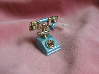dollhouse doll house miniature FANCY FRENCH PHONE BLUE