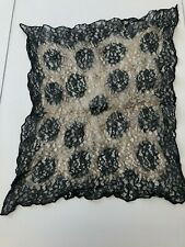 vintage black lace handkerchief pocket square steampunk