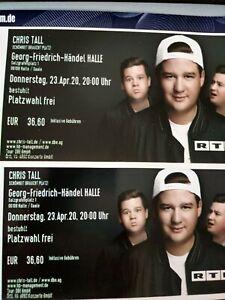 2 Tickets CHRIS TALL Halle 24.03.21  Ausverkauft! Freie Platzwahl
