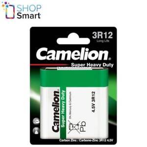 CAMELION 3R12 BATTERY LONG LIFE SUPER HEAVY DUTY 4.5V 2000mAh 1BL EXP 2023 NEW