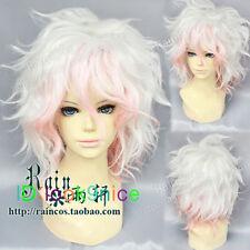 Danganronpa Dangan-Ronpa Nagito Komaeda Fashion Short Hair Cosplay Party Wig