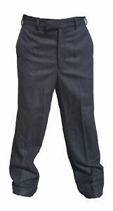 Genuine Men's Black 100% Wool British Uniform Trousers W3U