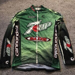 Cannondale Men's Medium Long Sleeve Cycling Jersey, 7up, Maxxis, Retro Design