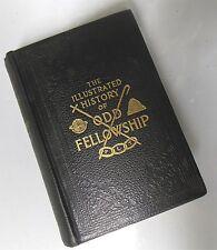 History of Odd Fellowship 1917 Leather odd fellows Fraternal FINE COPY