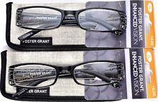 FOSTER GRANT EnhancedVision Reading Glasses+2.00 *SET OF 2* 50-18-132 (B5) >NEW<