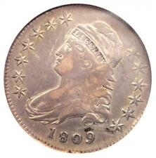 1809 XXX Edge Capped Bust Half Dollar 50C Coin O-110 - ANACS VF30 Details!