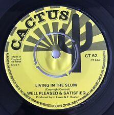 Well Pleased & Satisfied 'Living In The Slum' Orig Uk Killer Roots Top Copy !!!