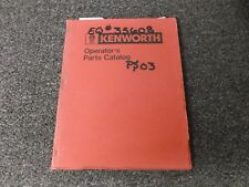 1999 Kenworth W900 B2 W900B W900B2 Semi Tractor Truck Parts Catalog Manual Book