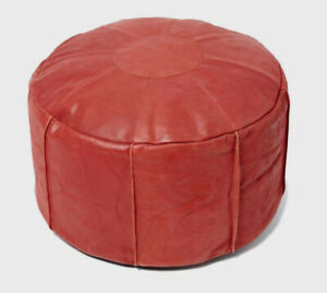 GENUINE LEATHER Filled Pouffe / Footstool / Beanbag *Great Gift!* Moroccan Style