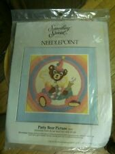 Something Special  PARTY BEAR  PICTURE  30431 Needlepoint Kit  18  BY 18
