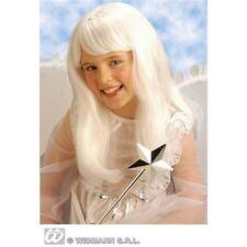 Pelucas y postizos color principal blanco de pelo sintético para disfraces y ropa de época