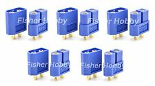 5 pairs Blue XT60 Bullet Connectors Plugs Male & Female For RC LiPo Battery