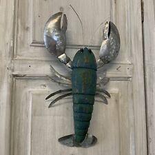 Leonard Lobster Wall Decoration Sculpture Nautical Bathroom Rustic Beach Vintage