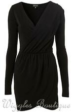 Topshop Stretch, Bodycon No Pattern V Neck Dresses for Women