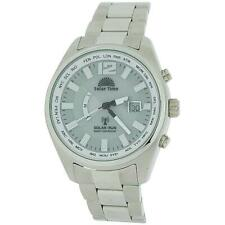 Solar Time Radio Controlled Solar Powered Gents All Stainless Steel Watch GA5047