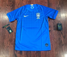 NWT$75 Boys Soccer / Football Nike Brasil Blue Jersey Size Youth Large