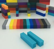NEW (2) 40' Shipping Containers N Scale 1:160 MAERSK BLUE - ALL COLORS AVAILABLE