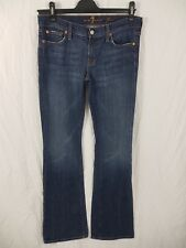 "7 For All Mankind Jeans Size UK 12 30 Bootcut Dark Blue 42"" Length"