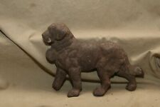 Antique Cast Iron St. Bernard Dog Doorstop Remnant Architectural Remnant w Loss