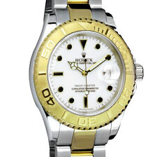 ROLEX - Mens 18kt Gold & Stainless Yachtmaster White Index 16623 - SANT BLANC