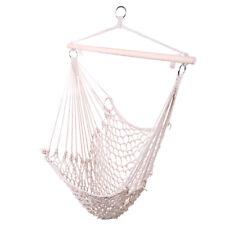 Cotton Hanging Rope Air/Sky Chair Swing Beige Swing Indoor home balcony cradle