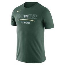 Nike Dri Fit Milwaukee Bucks Fear Deer Playoff shirt men Nba basketball training