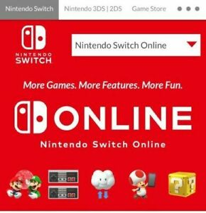 Nintendo switch online family 12 month