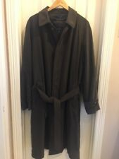Turnbury Olive Green Overcoat Trench Coat Jacket Mens 42 Removable Wool Liner