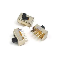 10Pcs PCB DC50V 0.5A 2 Position DPDT SS22F04-G5 Slide Switch 6 Pin