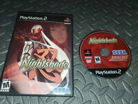 Nightshade Sony PlayStation 2 PS2 Game - Black Label Disc Only Works Good