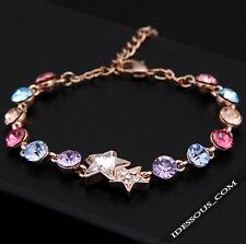 18 CARATS or 750 Bracelet véritable BIJOUX DIAMANT Chaîne Femme I