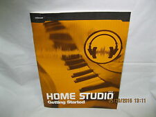 HOME STUDIO , Getting Started , booklet cakewalk home studio manual - no disc