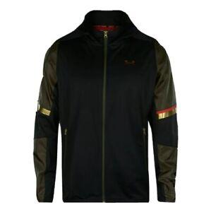 Stephen Curry Under Armour SC30 Heatseeker Warm-Up Jacket- Black/Combat Green L