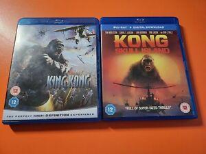 King Kong and Kong Skull Island Blu Ray Movies - Region 2 - VGC - Fast P+P