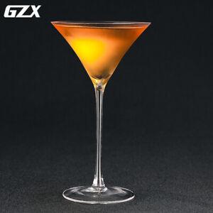 Tall Cocktail Glass Trumpet Cup Handmade Glass Wine Glass Martini Glass 145ml