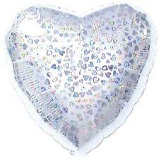 "18"" Dazzleloon Silver Heart Shape Balloon Wedding Baby Shower Birthday Bridal"